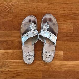 Jack Roger silver sandals